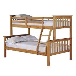 Otto Trio Pine Contemporary Bunk Bed
