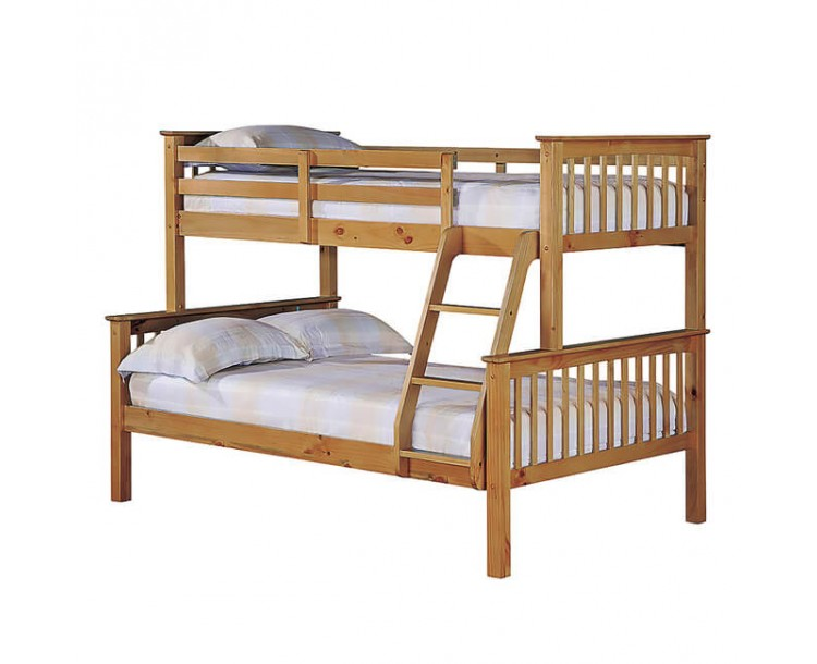 Otto Trio Pine Contemporary Bunk Bed
