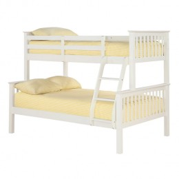 Otto Trio Bunk Bed White Triple Sleeper