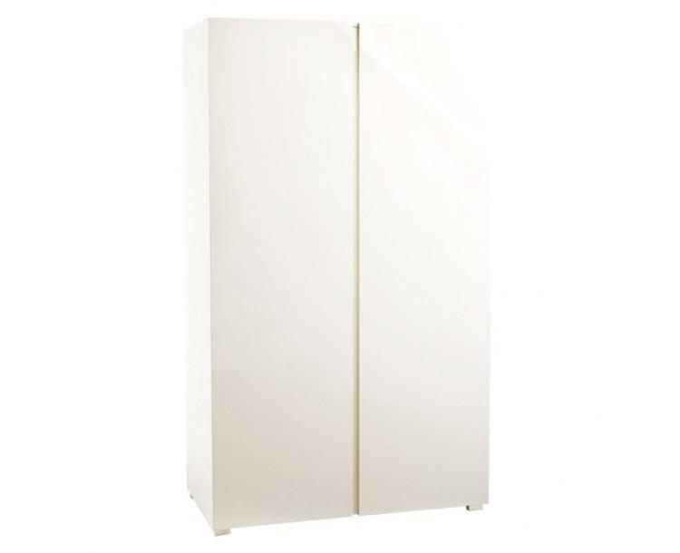 Puro Cream 2 Door Wardrobe Cream with Hanging Rail