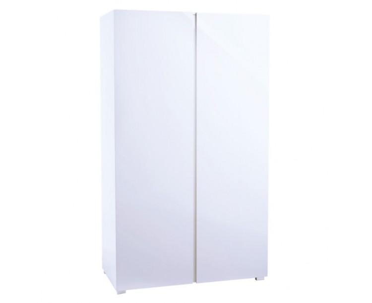 Puro White High Gloss 2 Door Wardrobe
