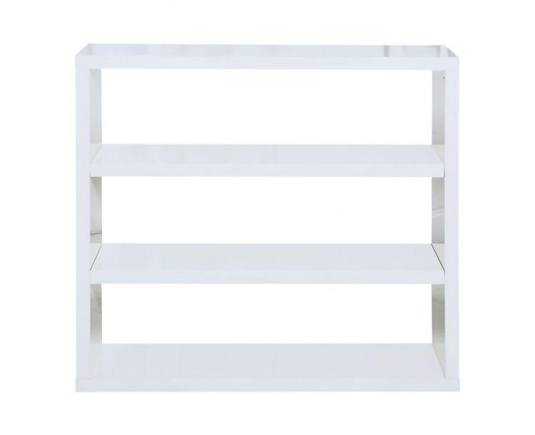 Contemporary MDF White High Gloss PUro Bookcase