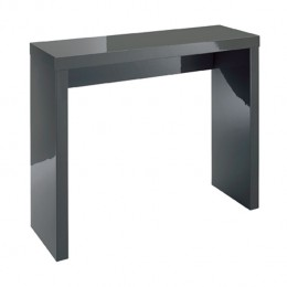Puro Charcoal High Gloss Console Table