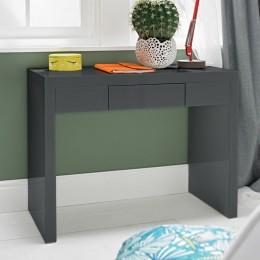 Puro High Gloss Bedroom Charcoal Dressing Table