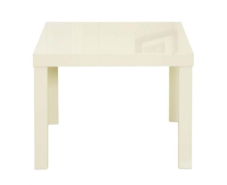 Modern High Gloss PUro End Table Cream