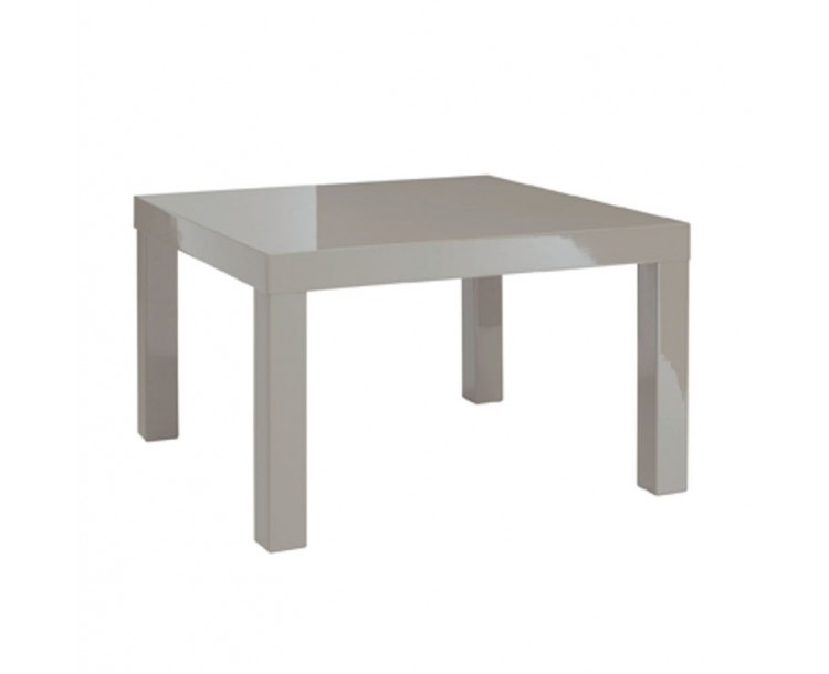 Contemporary High Gloss PUro End Table Stone