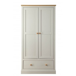 St Ives 2 Door 1 Drawer Bedroom Furniture Wardrobe In Grey