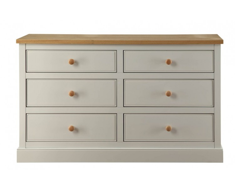St Ives 6 drawer Bedroom Furniture Chest of Drawers 3+3
