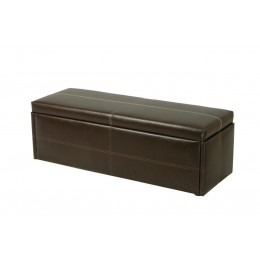 Stanton Brown Faux PU Leather Ottoman Bedroom Storage Box