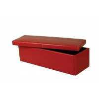 Stanton Red Faux PU Leather Ottoman Bedroom Storage Box