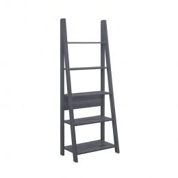 Tiva Compact Black Ladder Bookcase