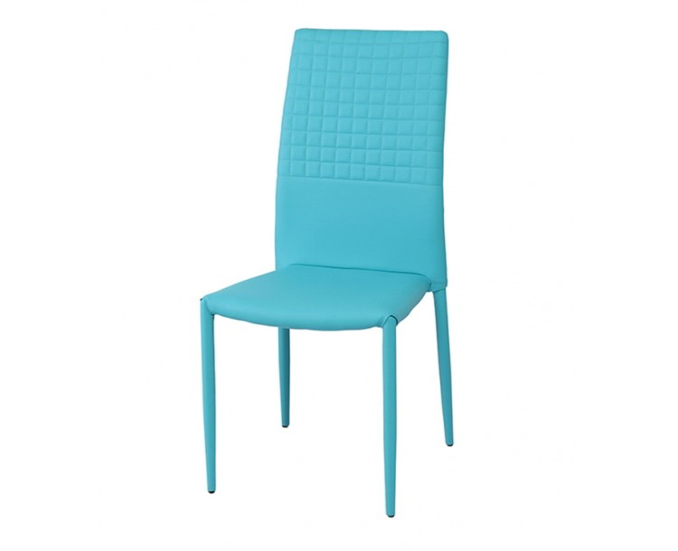 Cuba Stackable Faux Leather Aqua Blue Dining Chair