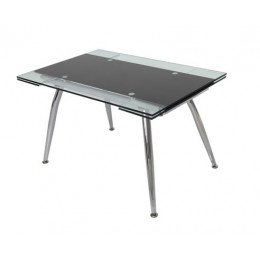 Micha Glass 125cm Extending Dining Table in Black or Red