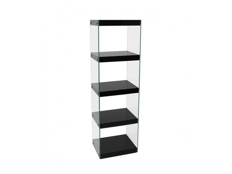 Moda Glass Display Shelving Units Black High Gloss