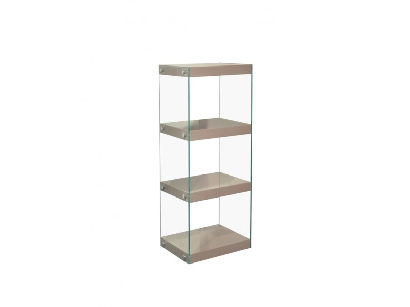 Moda Glass Display Shelving Units Mink Grey High Gloss