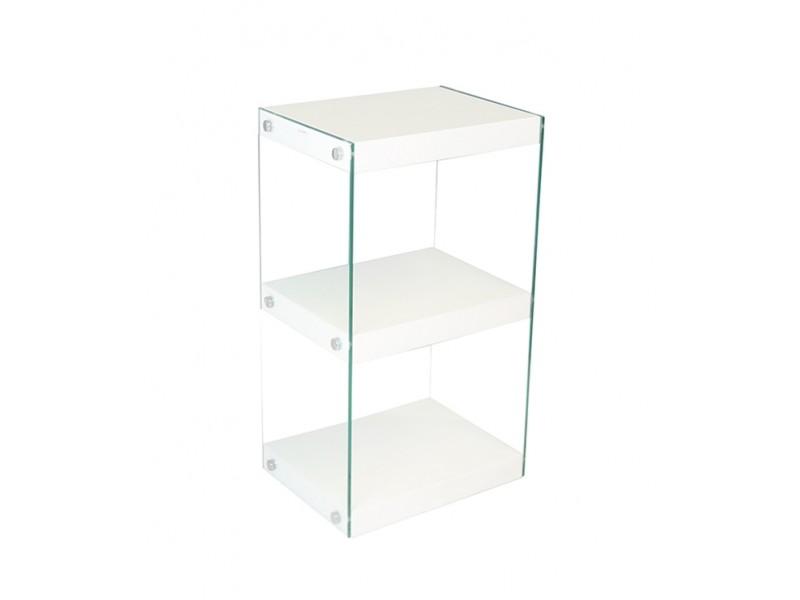 Moda Glass Display Shelving Units White High Gloss
