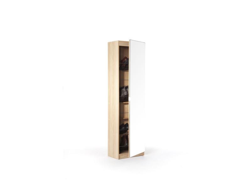Mirrored Front Oak Storage Amp Shoe Cabinet 150 Cm