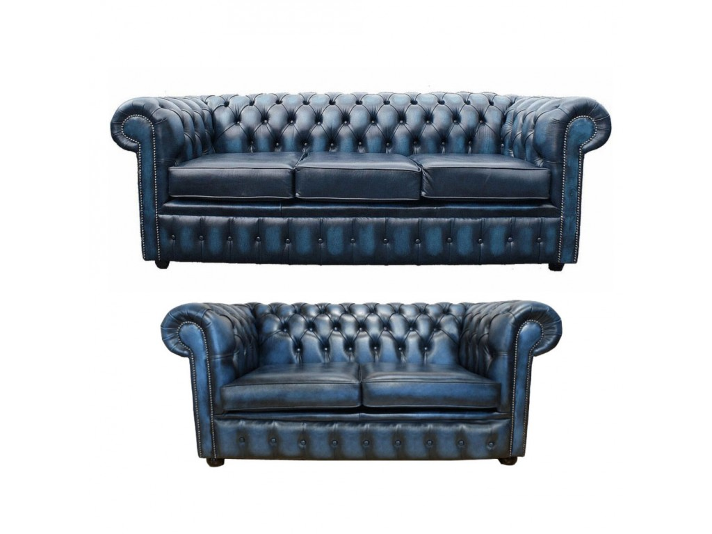 Chesterfield Genuine Leather Three Amp Two Seater Sofa Suite