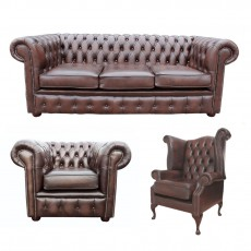 Genuine Leather Chesterfield Furniture