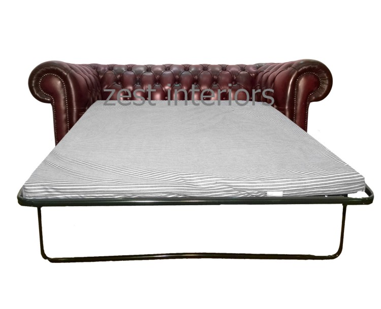 Chesterfield Genuine Leather Two Seater Sofa bed Collection