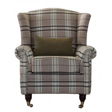 Regal Fabric Queen Anne Fireside Armchair In Various Colours