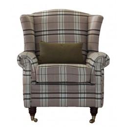 Regal Fabric Queen Anne Fireside Armchair in Various Colours