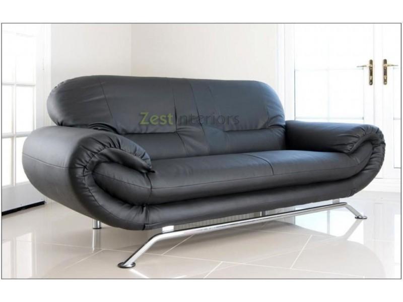 Black Leather Sofas With Chrome Legs | Catosfera.net