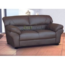 Polo Two Seater Sofa High Quality Brown Faux Leather
