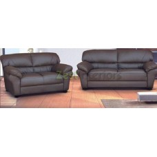 Polo Three & Two Seater Sofa Room Set High Quality Brown Faux Leather