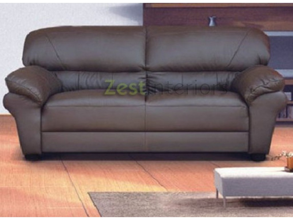 Picture of: Polo Brown 3 Seater High Quality Faux Leather Sofa