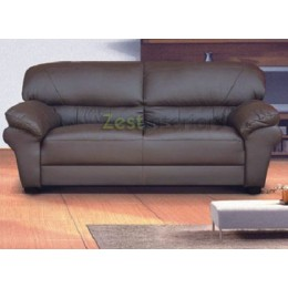 Polo Three Seater Sofa High Quality Brown Faux Leather