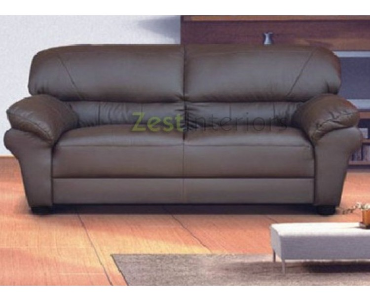 Polo Brown 3 Seater High Quality Faux Leather Sofa