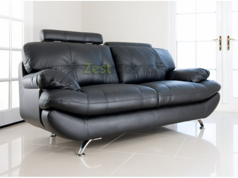 black leather two seater sofa – Home Decor 88
