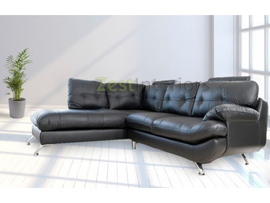Fantastic Verona Left Large Corner Black Faux Leather Sofa W Headrest Download Free Architecture Designs Embacsunscenecom