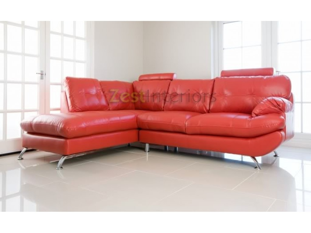 Swell Verona Stylish Red Left Large Corner Faux Leather Sofa Download Free Architecture Designs Philgrimeyleaguecom