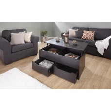 New Modern Ultimate Storage Coffee Table in Espresso