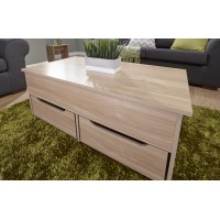 New Modern Ultimate Storage Coffee Table in Oak
