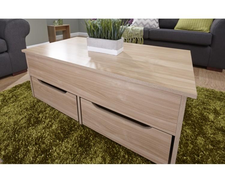 New Modern Ultimate Storage Coffee Table in Oak
