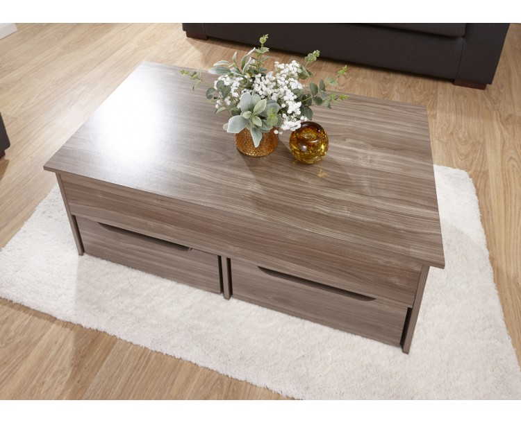 Modern Walnut Storage Coffee Table by G-Range