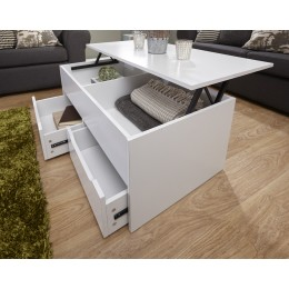 New Modern Ultimate Storage Coffee Table in White