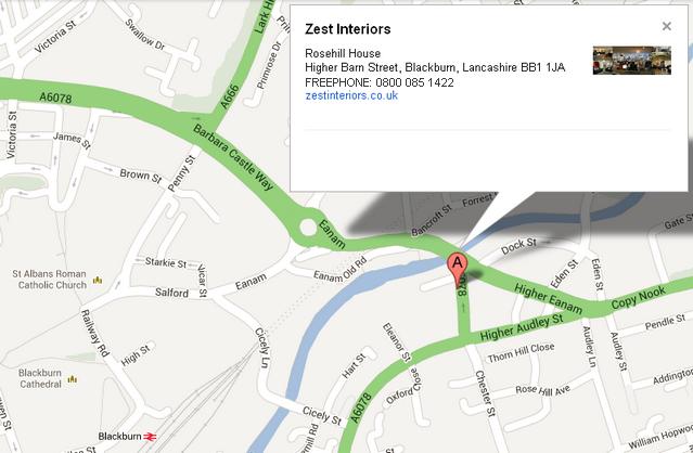 Zest Interiors Address Map
