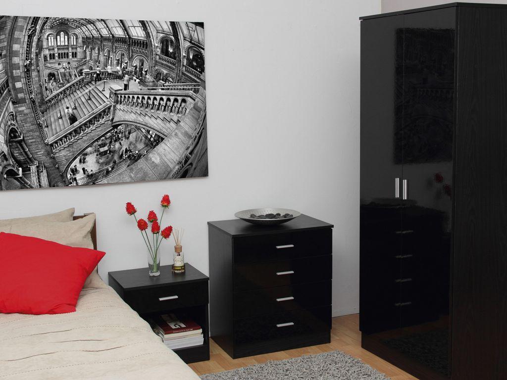 Madrid Black Oak Bedroom Furniture Three Piece Collection