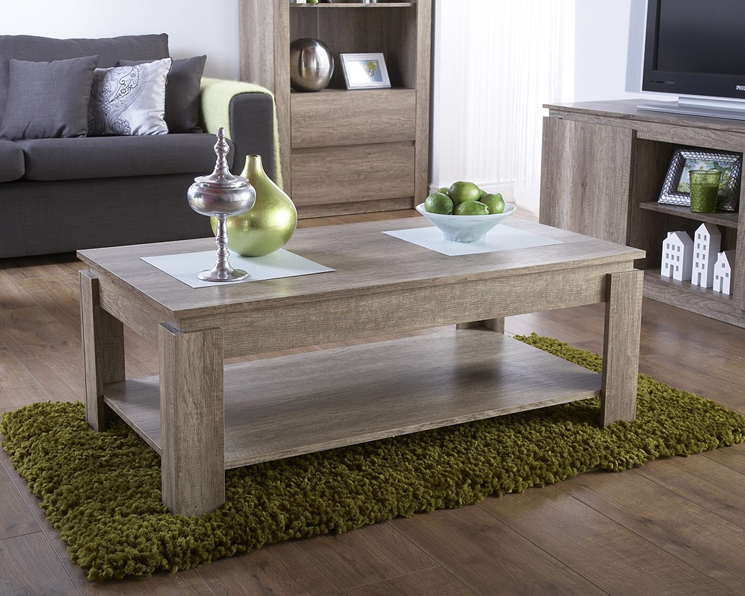 Awesome Canyon Oak Living Room Rustic 3D Oak Effect Coffee Table Caraccident5 Cool Chair Designs And Ideas Caraccident5Info